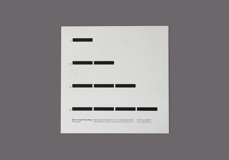 "JP Hartnett | Don't Forget Everything 12"" Cover Design 