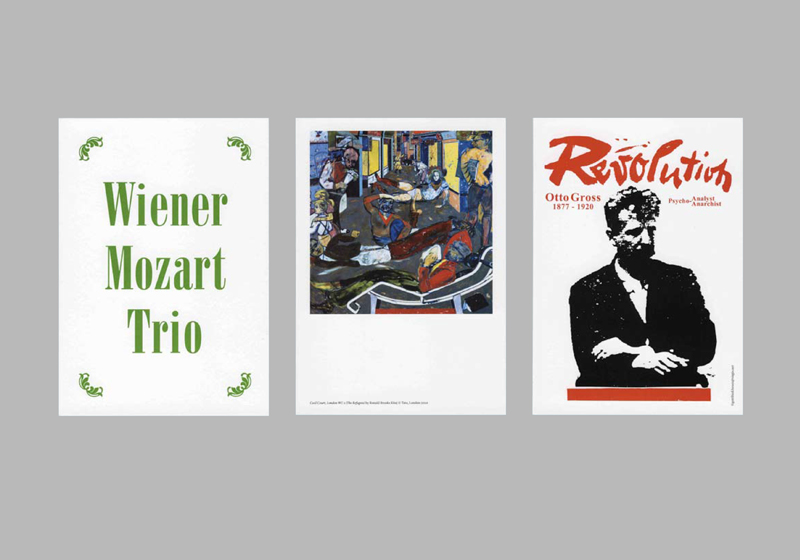 Austrian Cultural Foundation Event flyers | Designed at Polimekanos